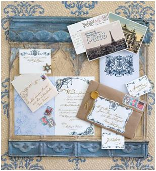 Pariasian inspired invitation suite by Ceci New York